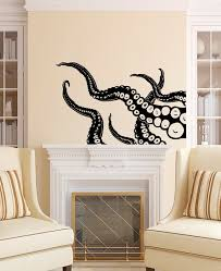 Octopus Wall Decal Tentacles Vinyl Sticker Decals Kraken Etsy