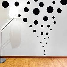 Amazon Com Assorted Sizes Black Circle Wall Decal Dots Polka Mix 268pcs Easy To Peel Easy To Stick Safe On Walls Paint Metallic Vinyl Polka Dot Decor By Bugybagy Black 268pcs