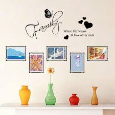 photo frame family quotes wall stickers living room decor decals