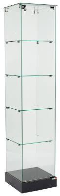 tower display frameless tall glass