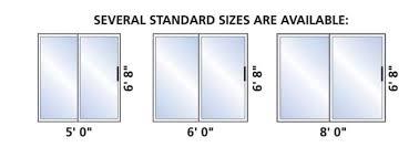 sliding glass door measurements