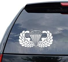 Amazon Com Airborne Paratrooper Us Army Decal Sticker Car Truck Motorcycle Window Ipad Laptop Wall Decor Size 05 Inch 13 Cm Wide Color Matte White Home Kitchen