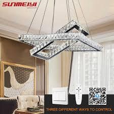Crystal Led Chandeliers Dimmable App Control Modern Kitchen Chandelier Lighting Smart Lamp For Living Room Bedroom Lampadario Aliexpress