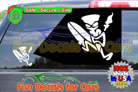 Tiki Man Surfing Decal Vinyl Die Cut Sticker Fun Decals For Cars Ssl