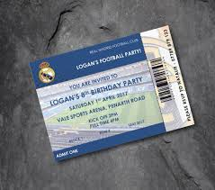Details About Real Madrid Personalised Football Invitations