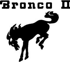 Ford Bronco 2 With A Horse Vinyl Cut Decal