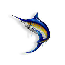 Marlin Fish Saltwater Sticker Fishing Cup Laptop Car Vehicle Window Bumper Decal Ebay