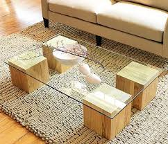 make a glass top coffee table in this