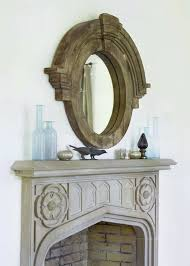 hand carved fireplace transitional
