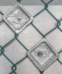 Tamper Resistant 2 Chain Link Fence Sign Mounting Brackets