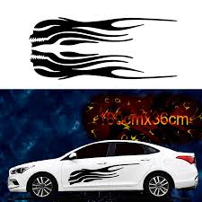Left And Right Skeleton Flame Car Stickers Decals Side Skirt Vinyl For Racing Car Body Yesterday S Price Us 17 89 1 Car Stickers Exterior Accessories Vinyl