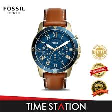 fossil grant sport chronograph leather