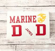 Marine Dad Decal Personalized Marine Eag Marine Window Decal Father S Day Usna Mom Marine Decal Window Decals Transfer Paper Dads