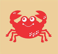 Happy Crab Wall Decal By Fairydustdecals On Etsy 8 00 Nursery Wall Decals Wall Decals Vinyl Wall Decals