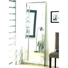 standing mirror with storage free black
