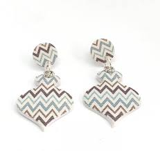 long polymer clay earrings chevron