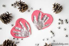 salt dough handprint ornament the