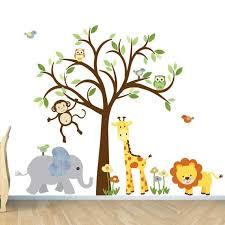 Kids Wall Decal Jungle Wall Sticker Monkey Decal Vinyl Giraffe Elephant Lion Monkey Include Jungle Wall Stickers Nursery Wall Decals Jungle Wall Decals