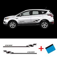 2 Pcs Vinyl Escape Car Styling Side Stripes Skirt Sticker Vehicle Auto Decals Stripe Wraps Body Graphics For Ford Escape Car Stickers Aliexpress