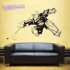 Ice Hockey Wall Stickers Vinyl Decal Home Decor Art Decorative Decoration Mural Winter Sport Puck Car Glass Decals Wall Stickers Aliexpress