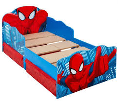 Spider Man Toddler Bed With Light Up Eyes And Storage By Hellohome