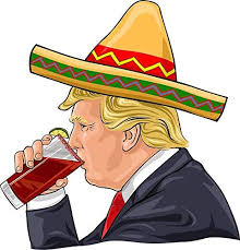 Amazon Com Donald Trump Drinking Michelada Vinyl Decal Bumper Wall Laptop Window Sticker 5 Kitchen Dining