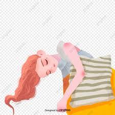 فتاة النوم وسادة في المنزل المنزل فتاة نائمة Pillow Png وملف