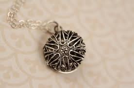 small silver locket necklace