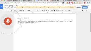 Google Docs - Voice Typing - YouTube