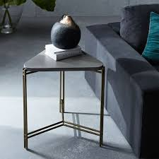 concrete triangle side table