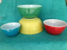 pyrex glass mixing bowl round primary