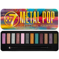 w7 cosmetics metal pop 12 colour