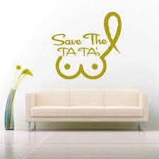 Save The Ta Tas Breast Cancer Awareness Car Window Decal Sticker