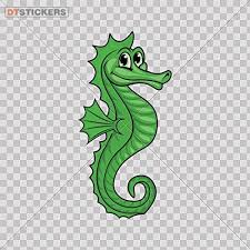 Amazon Com Sticker Green Seahorse Durable Boat 14 X 7 In Fully Waterproof Printed Vinyl Sticker Kitchen Dining