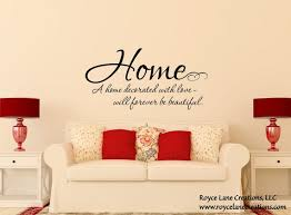 Home Quote Decal Family Love Wall Decals Family Quote Wall Etsy