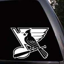 St Louis Blues Cardinals Car Bumper Laptop Vinyl Decal Sticker Ebay