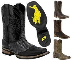 mens python print rodeo cowboy boots