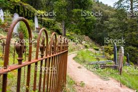 Rusty Fence In Cemetery Stock Photo Download Image Now Istock