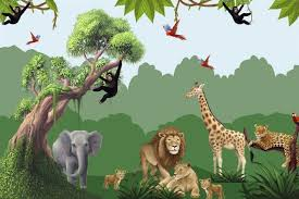 Jungle Mural Lots Of Animal Decals For A Complete Room Design