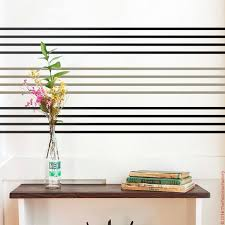 Lines Wall Decal Thin Stripes Sticker Straight Stripes Etsy