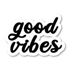 Good Vibes Inspirational Quotes Black Laptop Stickers Inspirational Qu Funpopstickers