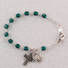 baby bracelet irish celtic cross