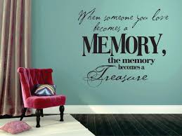 Decal When Someone You Love Becomes A Memory Memorial 20x30 Contemporary Wall Decals By Design With Vinyl