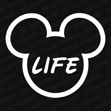 Disney Life Mickey Head Vinyl Decal Mickey Head Vinyl Decals Disney Decals