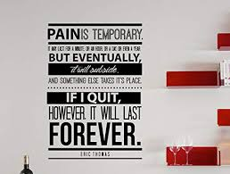 Driving Quote For Anyone Motivational Wall Decal Inspiring Vinyl Decor For Athletes The Pain You Feel Today Will Be The Strength You Feel Tomorrow And Teens Competitors Stickers Handmade Products