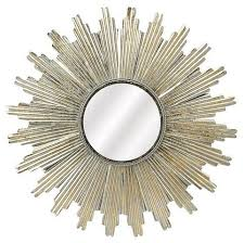 soleil sunburst wall mirror silver now