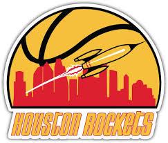 Amazon Com Skyhighprint Houston Rockets Nba Sport Decor Vinyl Print Sticker 5 X 4 Kitchen Dining
