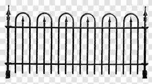 Picket Fence Chain Link Fencing Clip Art Black And White Transparent Png