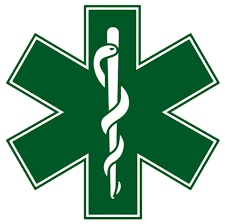 Green Star Of Life Reflective Window Decal Police Fire Ems Viny Graphics Stickers Decals Dkedecals