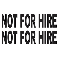 Car Decals Not For Hire Sticker Shopee Philippines